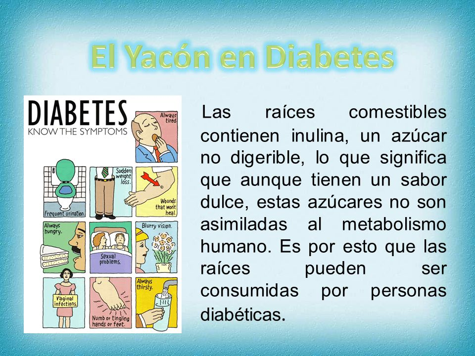 El Yacón en Diabetes