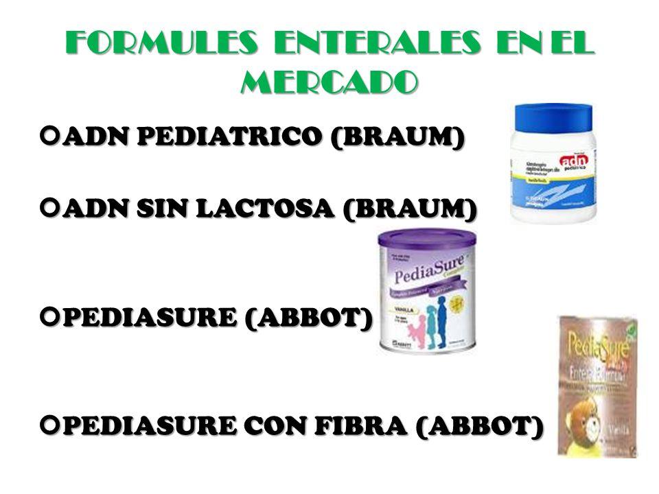 FORMULES ENTERALES EN EL MERCADO