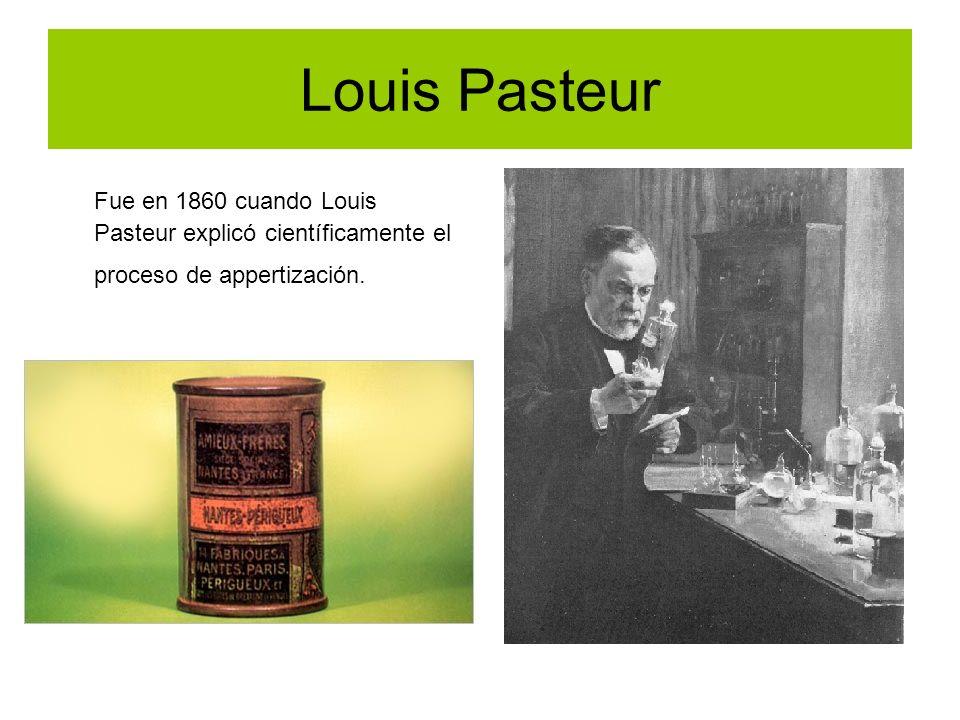 Louis Pasteur Fue en 1860 cuando Louis Pasteur explicó científicamente el proceso de appertización.