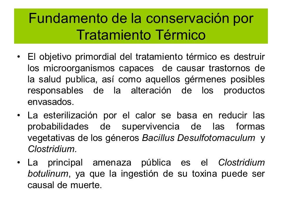 Fundamento de la conservación por Tratamiento Térmico