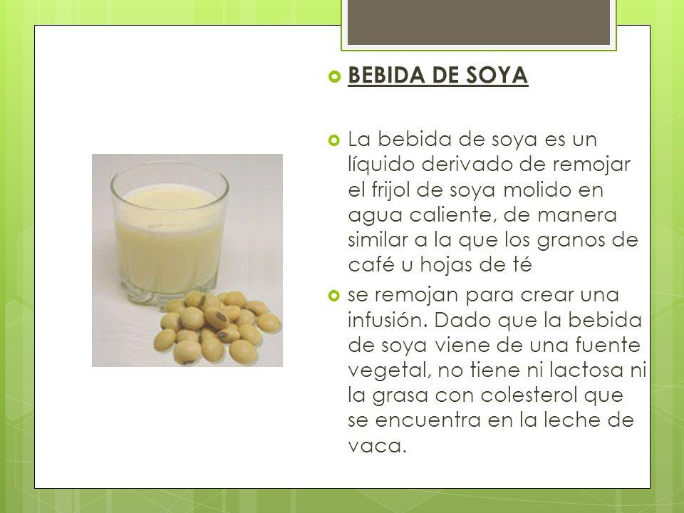 BEBIDA DE SOYA