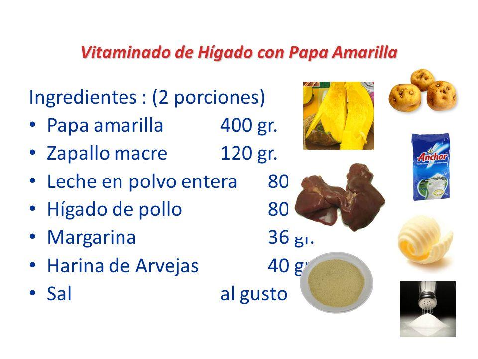 Vitaminado de Hígado con Papa Amarilla