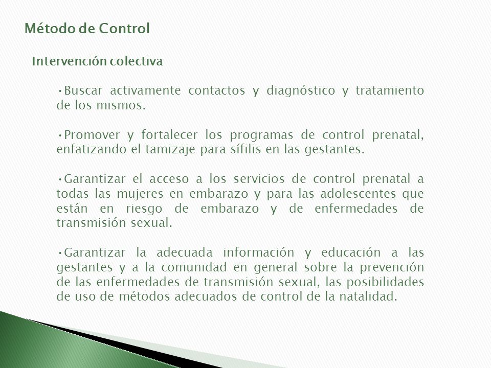 Método de Control Intervención colectiva