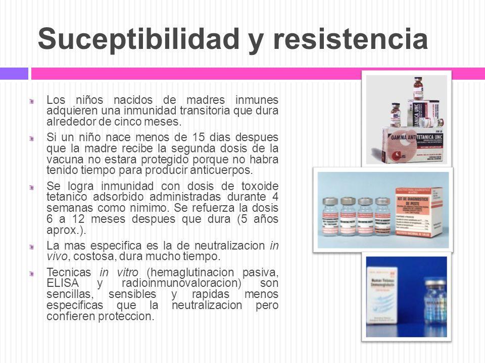 Suceptibilidad y resistencia