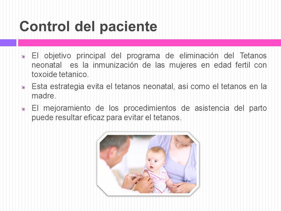 Control del paciente
