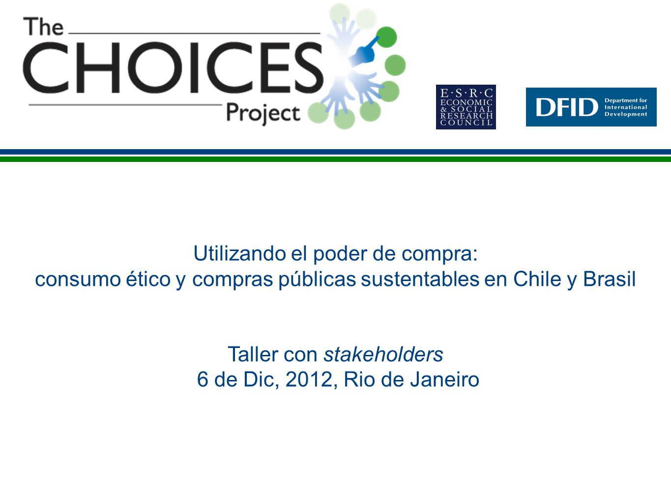 Taller con stakeholders