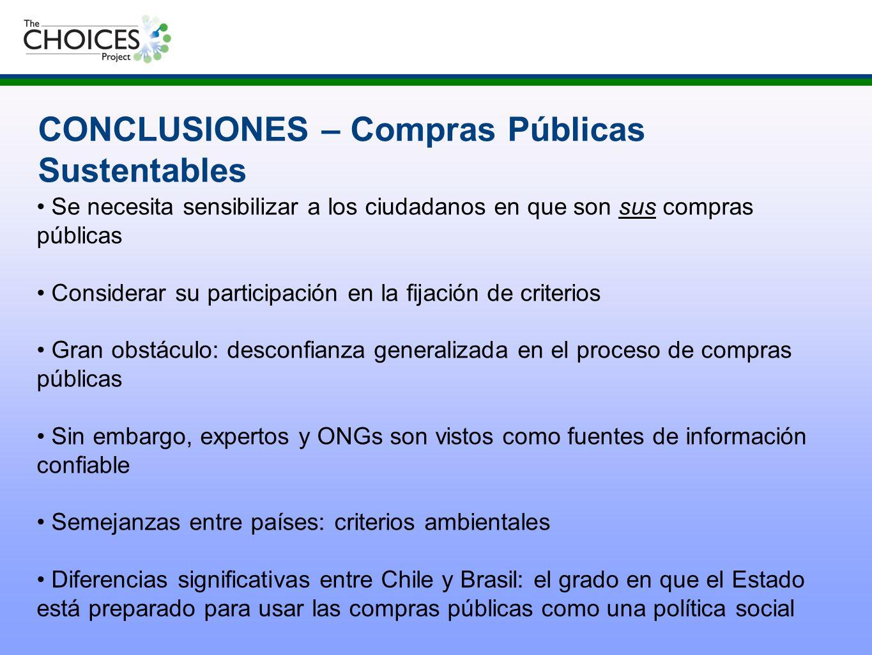CONCLUSIONES – Compras Públicas Sustentables