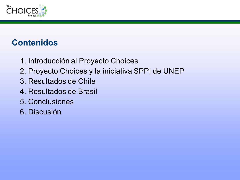 Contenidos 2. Proyecto Choices y la iniciativa SPPI de UNEP
