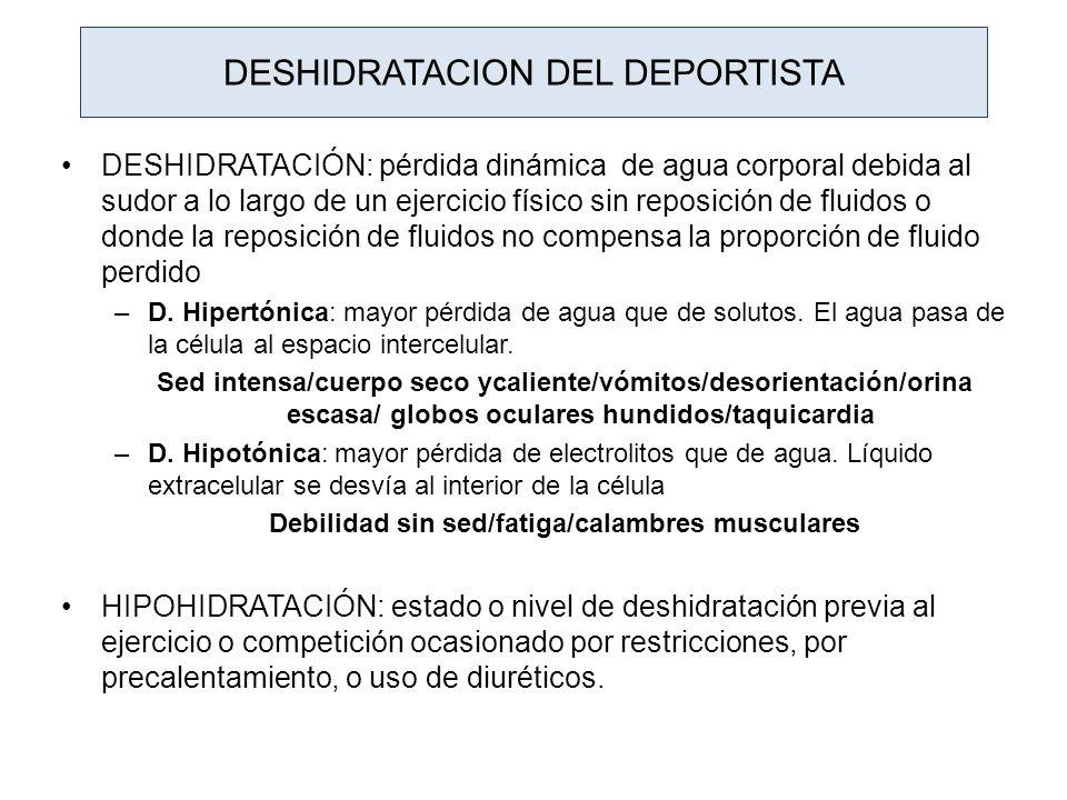 DESHIDRATACION DEL DEPORTISTA