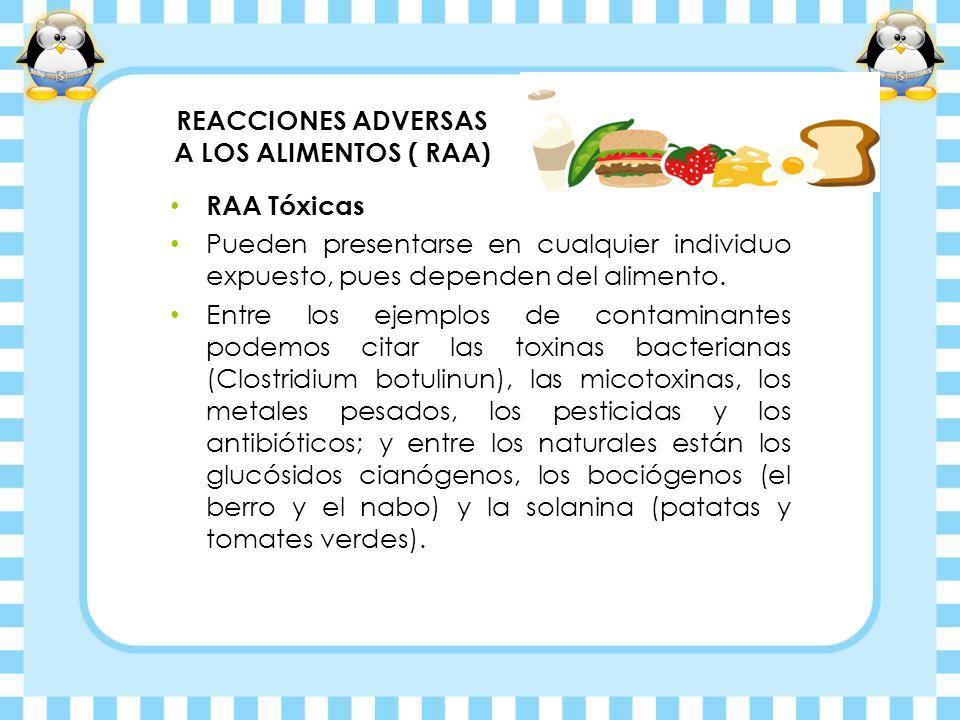 REACCIONES ADVERSAS A LOS ALIMENTOS ( RAA)