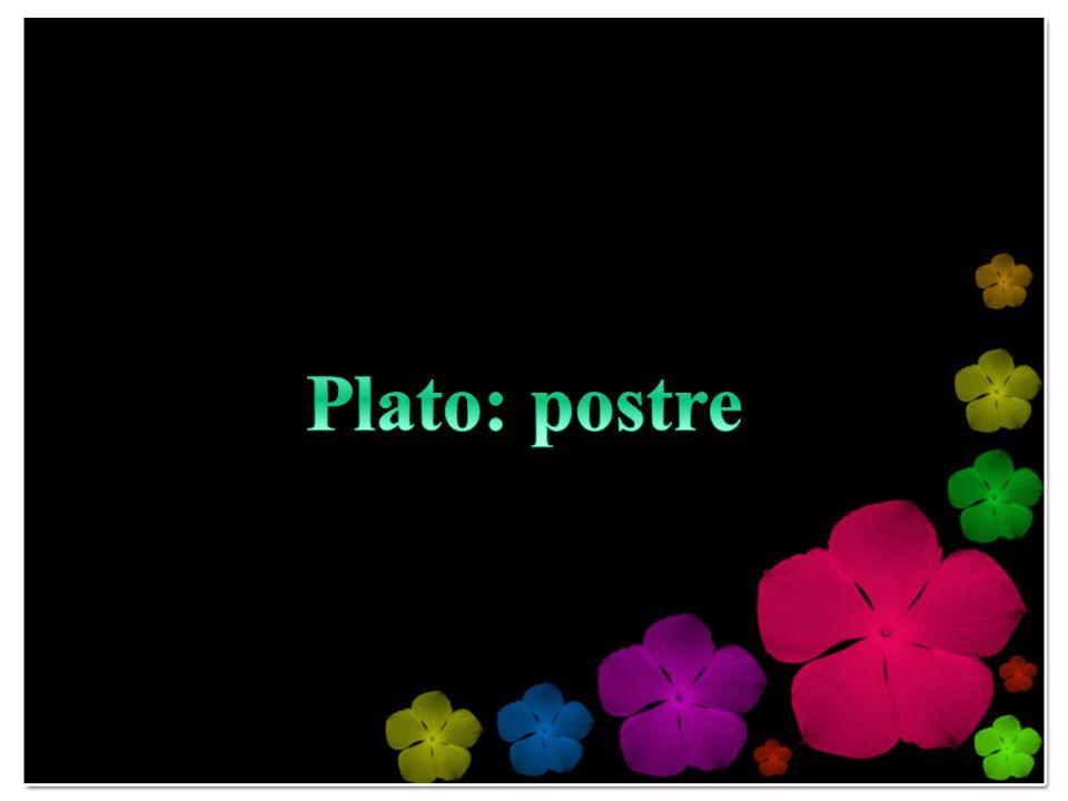 Plato: postre