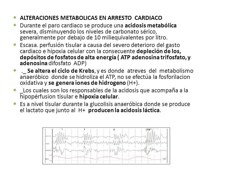 ALTERACIONES METABOLICAS EN ARRESTO CARDIACO