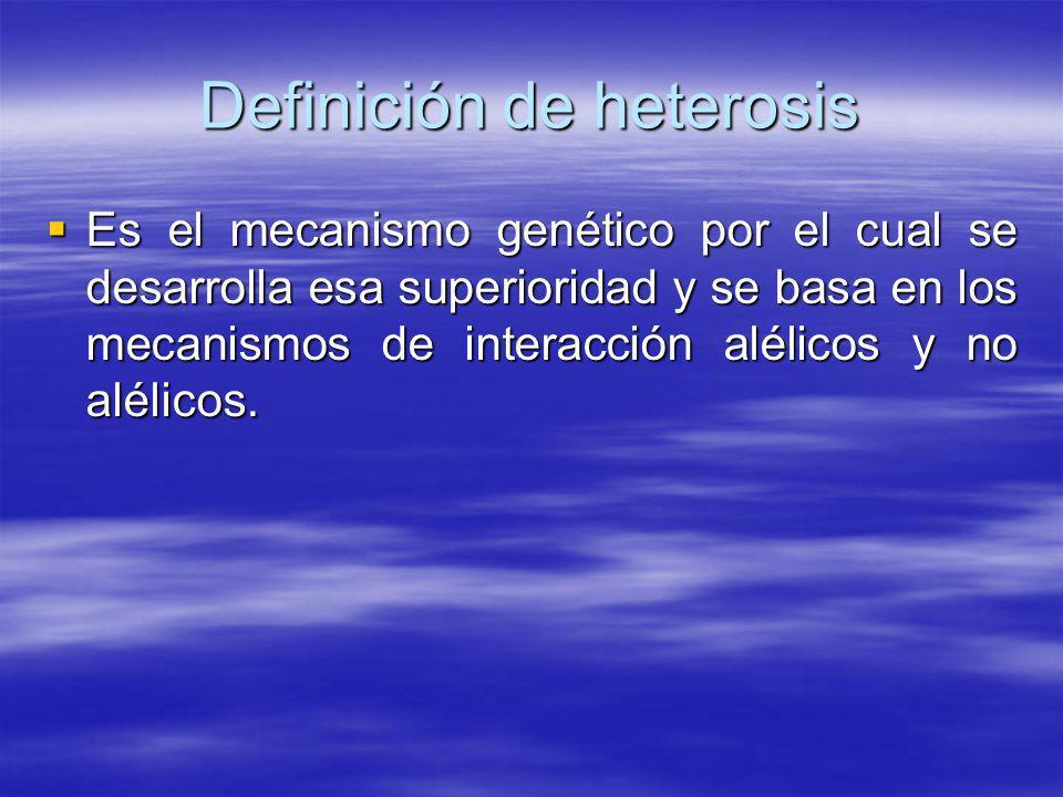 Definición de heterosis