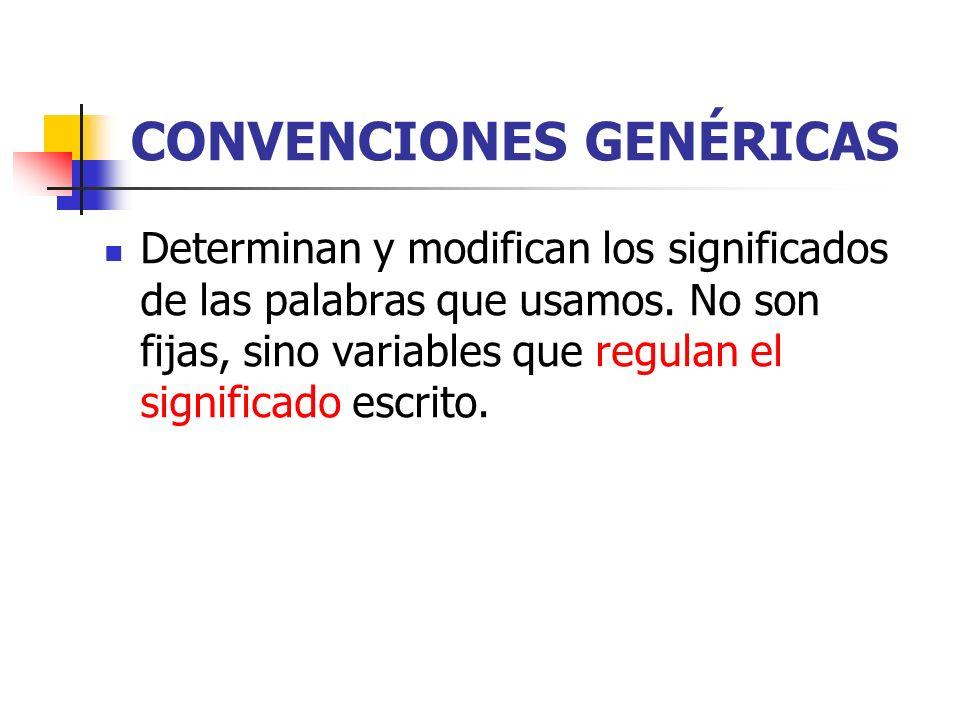 CONVENCIONES GENÉRICAS