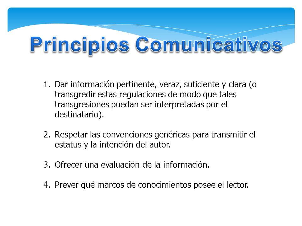 Principios Comunicativos