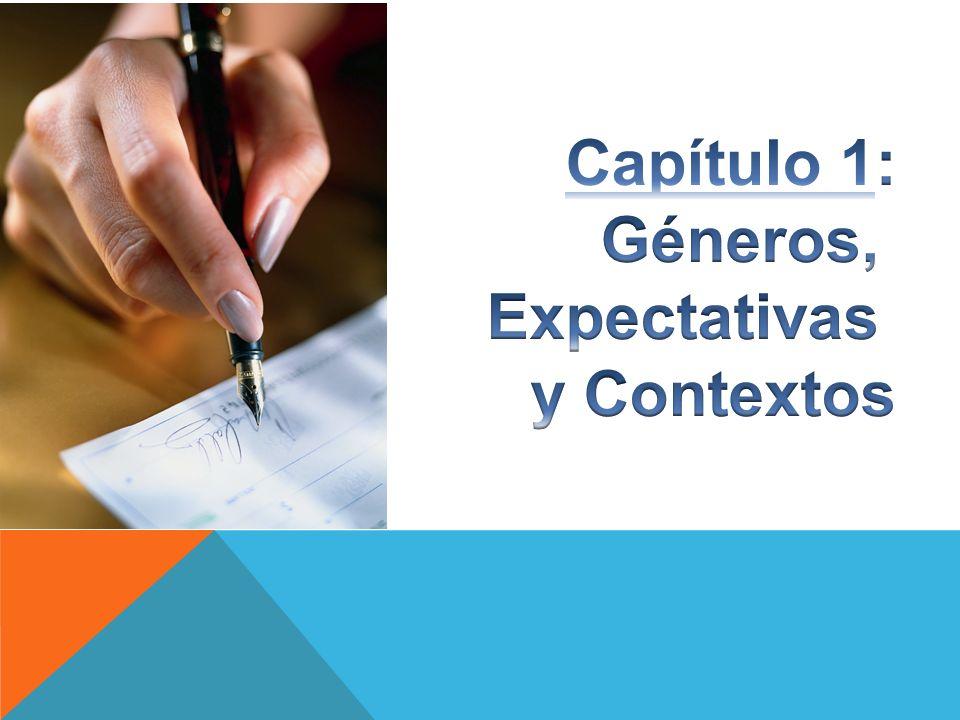 Capítulo 1: Géneros, Expectativas y Contextos
