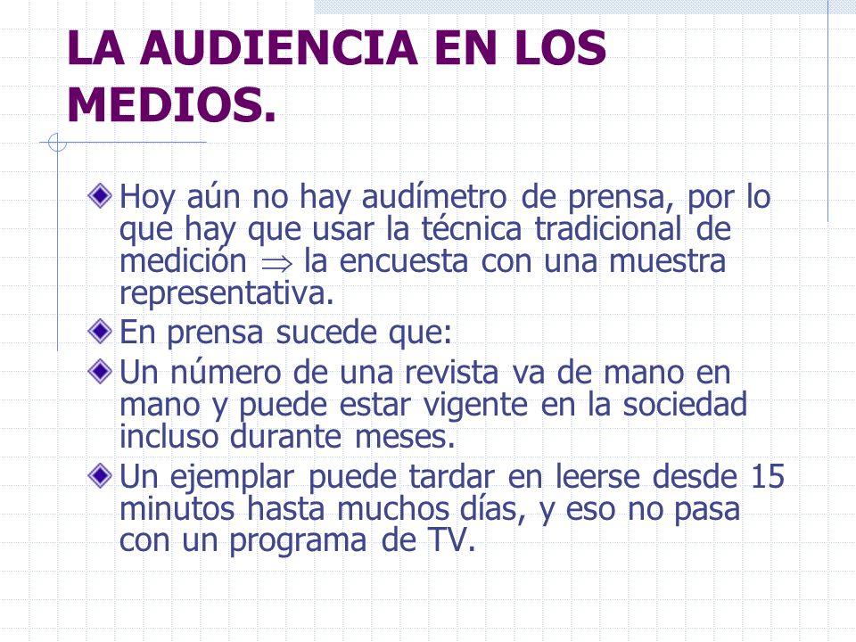 LA AUDIENCIA EN LOS MEDIOS.