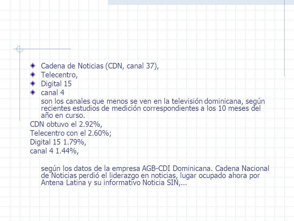 Cadena de Noticias (CDN, canal 37),
