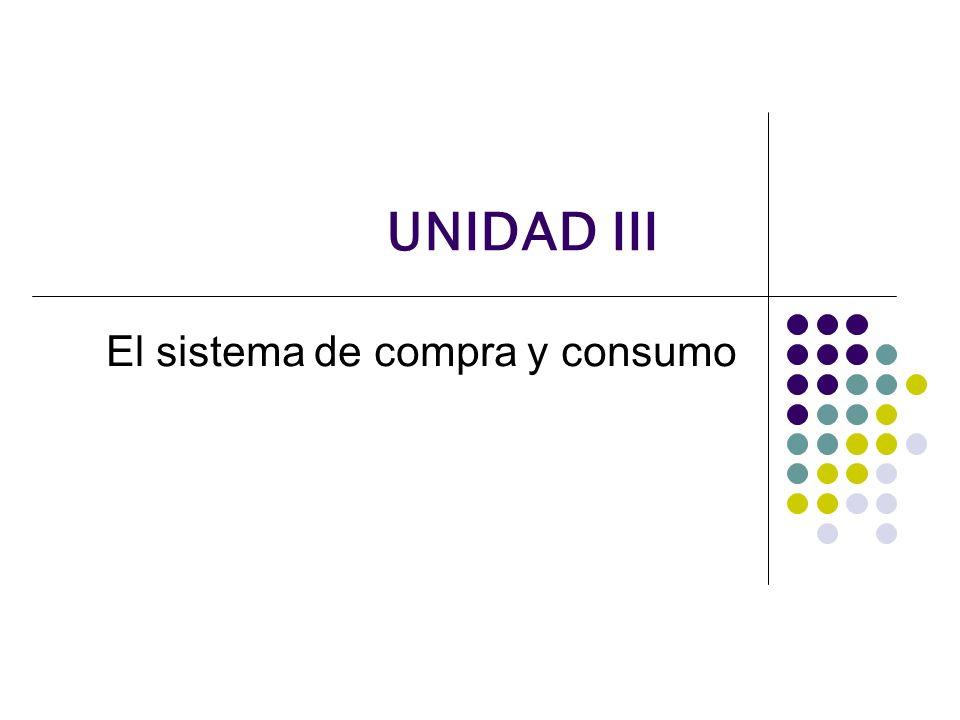 El sistema de compra y consumo