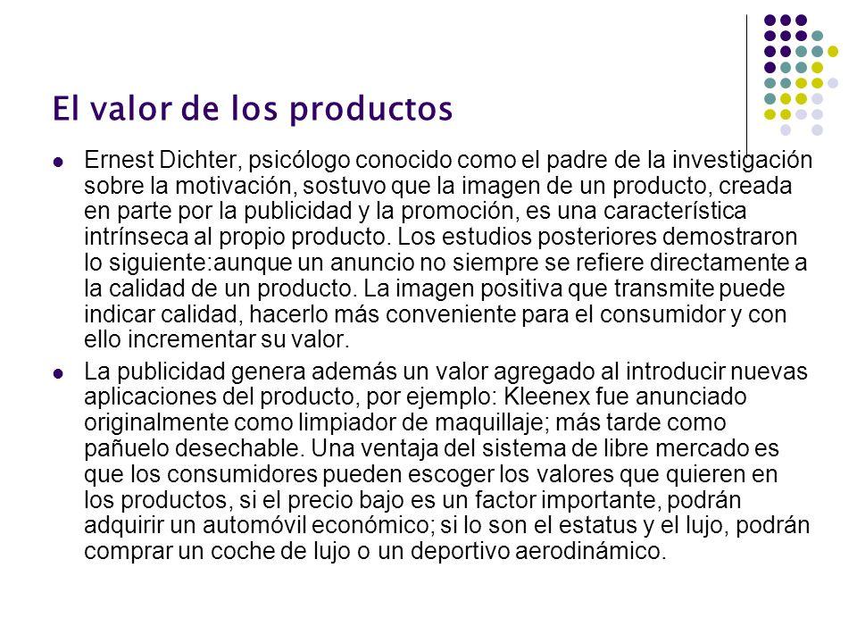 El valor de los productos