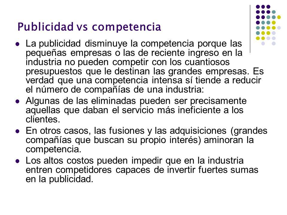 Publicidad vs competencia