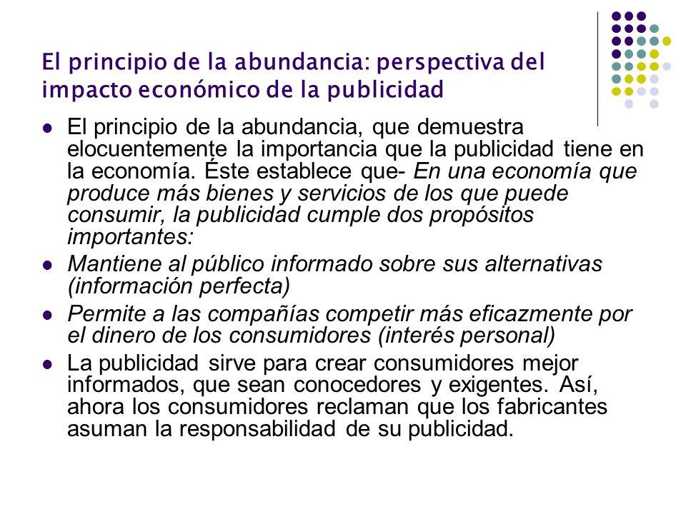 El principio de la abundancia: perspectiva del impacto económico de la publicidad