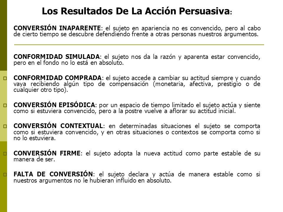 Los Resultados De La Acción Persuasiva: