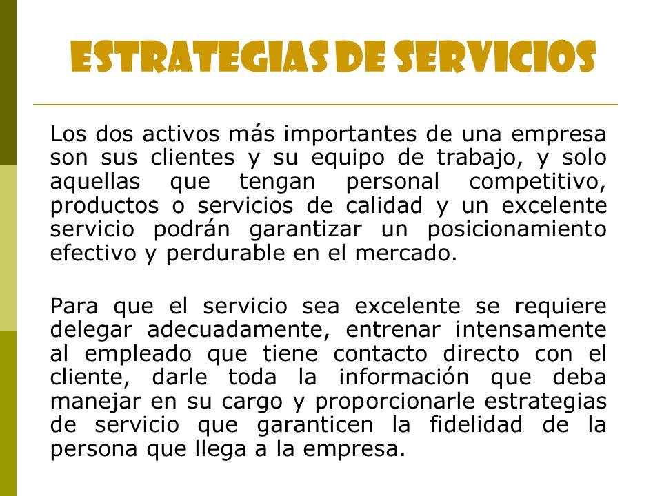 ESTRATEGIAS DE SERVICIOS
