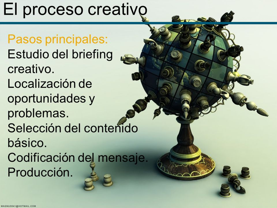 El proceso creativo Pasos principales: Estudio del briefing creativo.