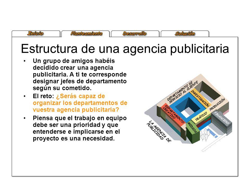 Estructura de una agencia publicitaria