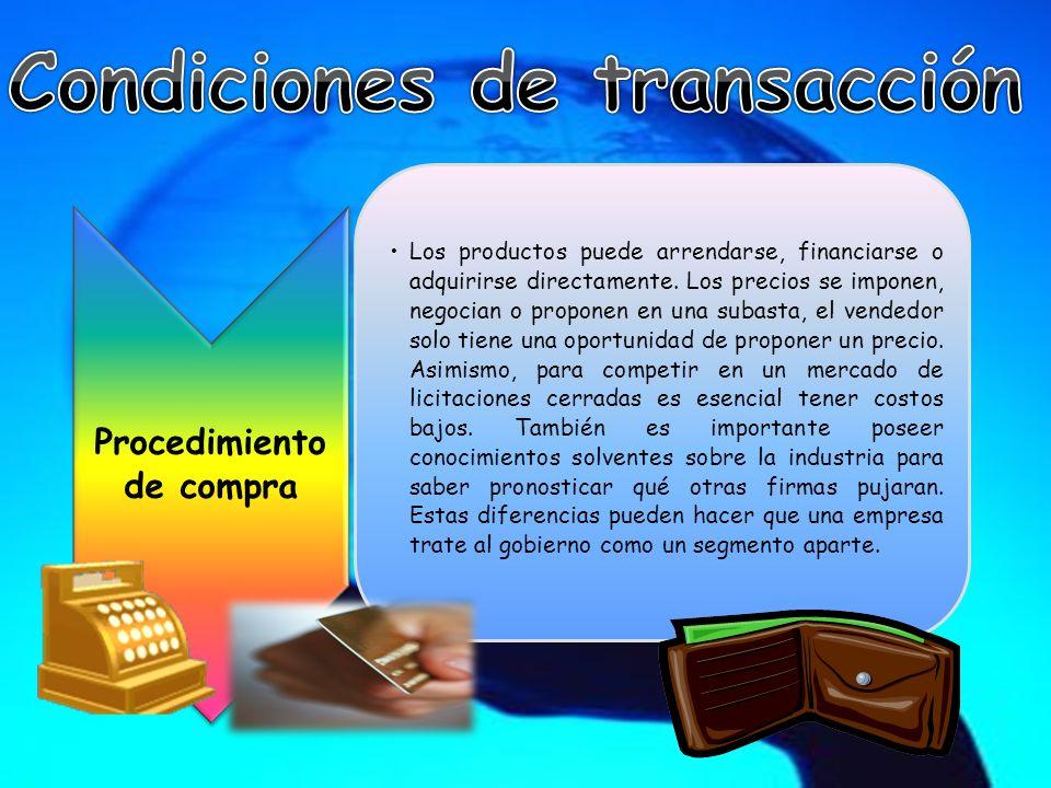 Condiciones de transacción