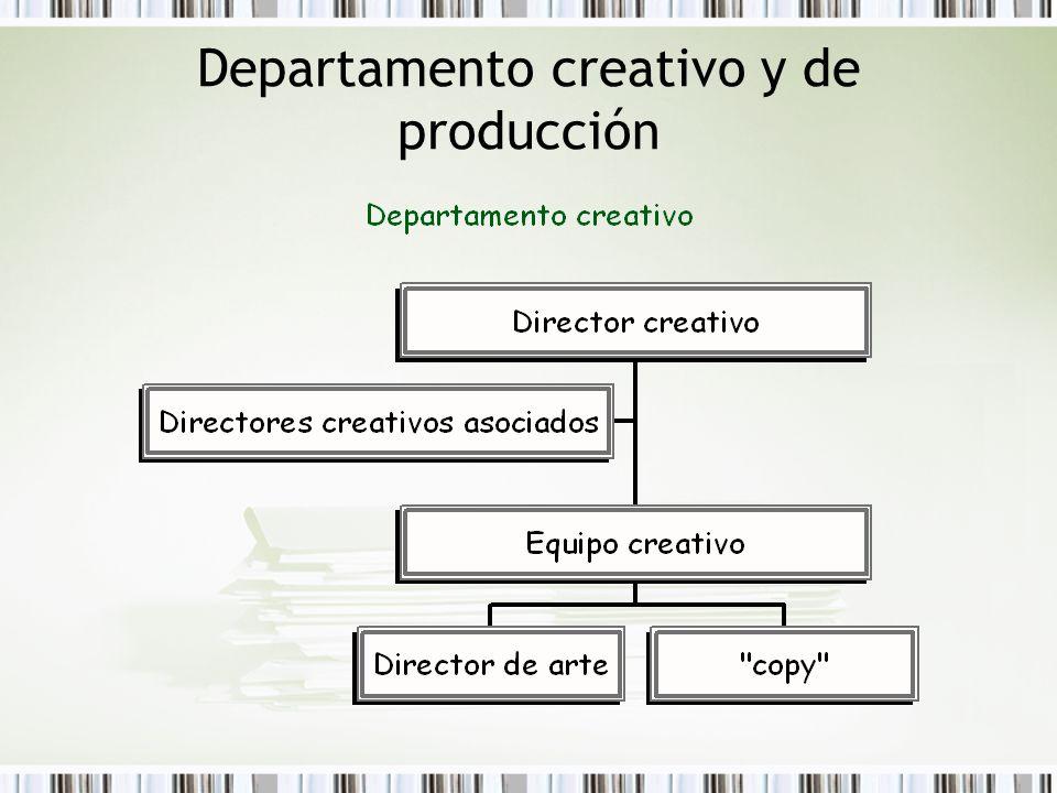 Departamento creativo y de producción