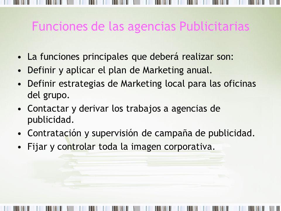 Funciones de las agencias Publicitarias