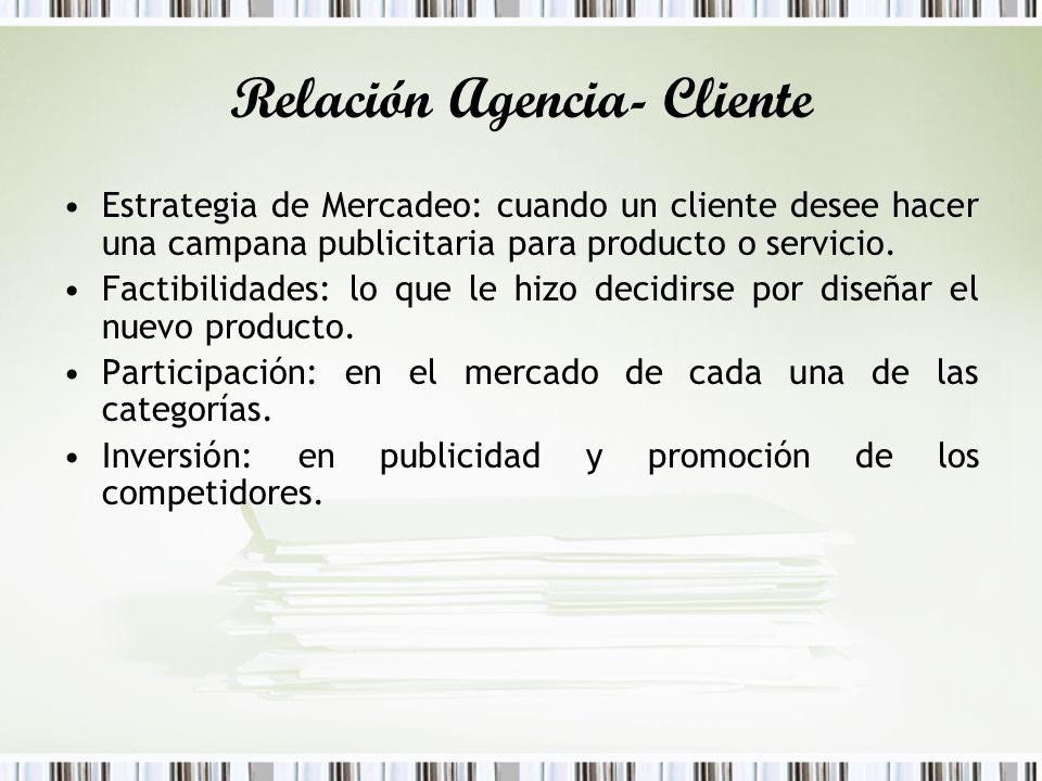 Relación Agencia- Cliente