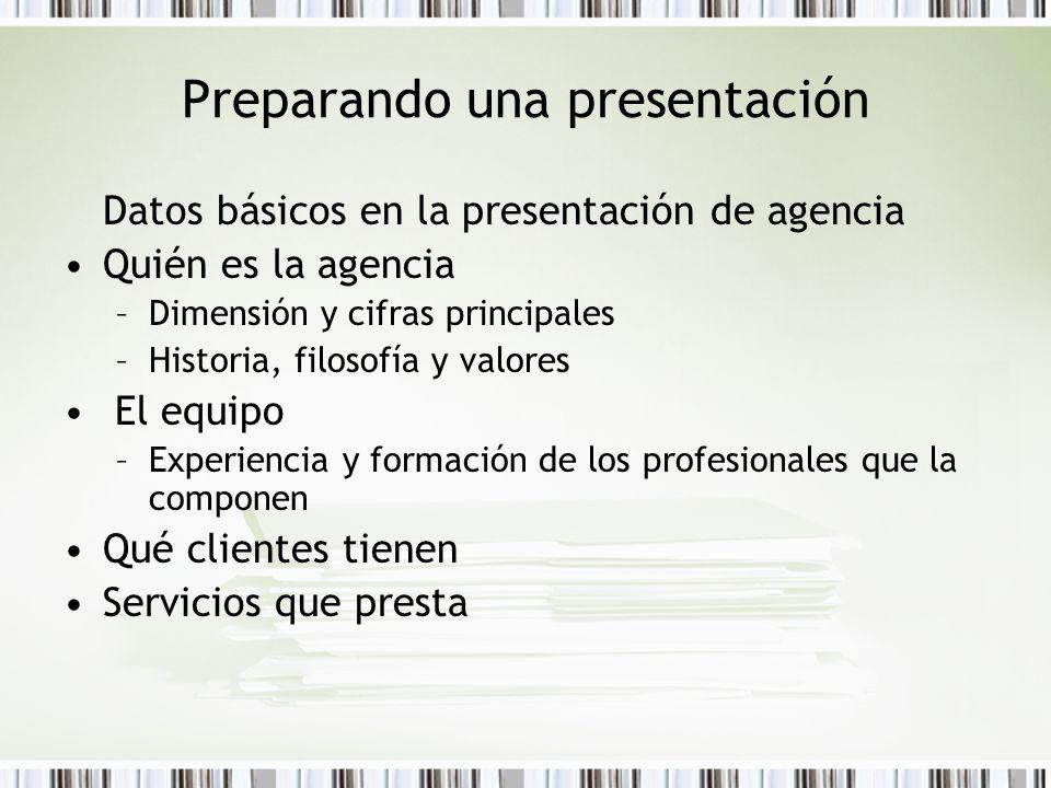 Preparando una presentación