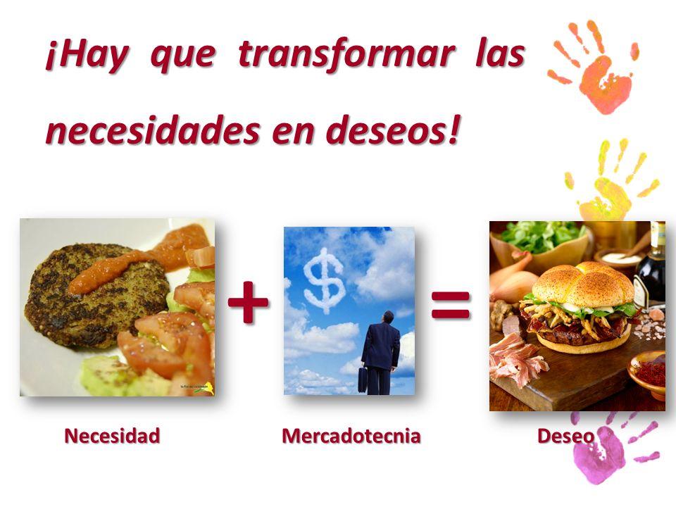 ¡Hay que transformar las necesidades en deseos!