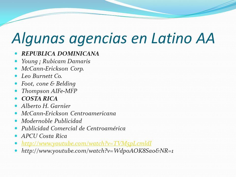Algunas agencias en Latino AA