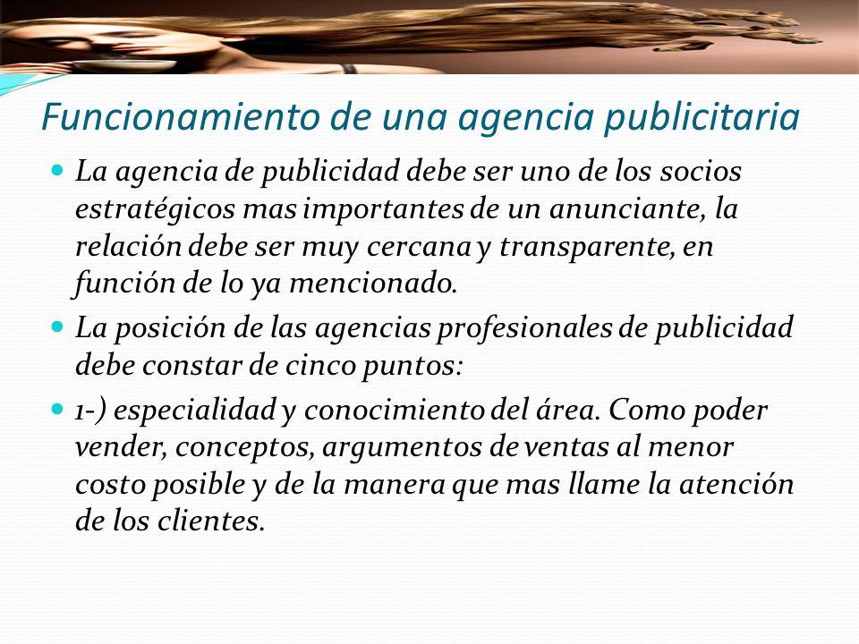 Funcionamiento de una agencia publicitaria