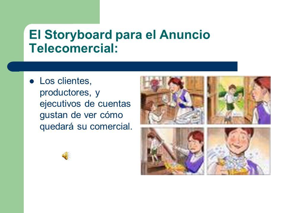 El Storyboard para el Anuncio Telecomercial: