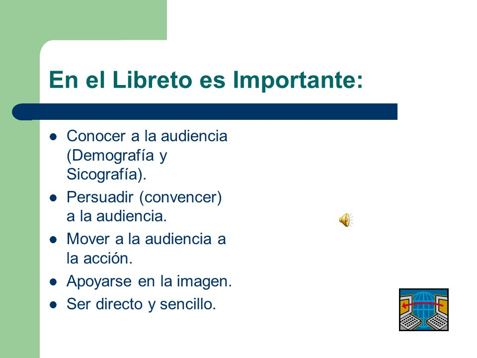 En el Libreto es Importante: