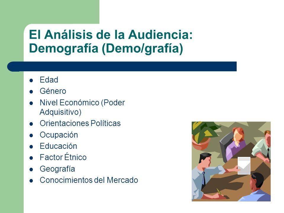 El Análisis de la Audiencia: Demografía (Demo/grafía)