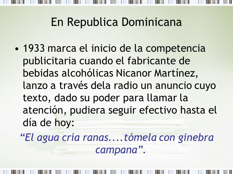 En Republica Dominicana