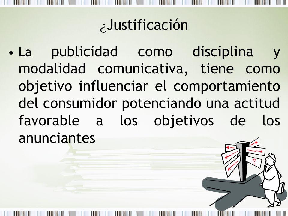 ¿Justificación
