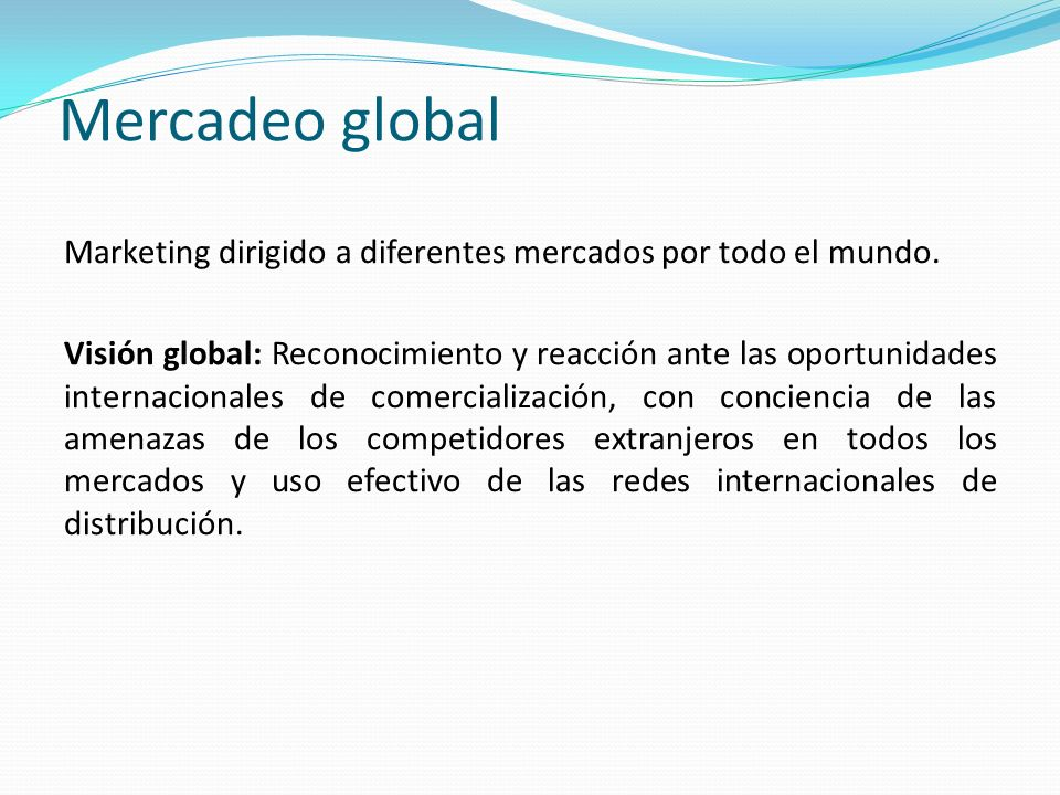 Mercadeo global