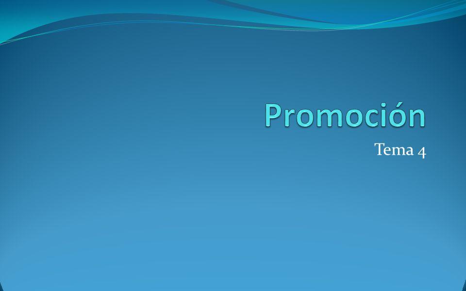 Promoción Tema 4