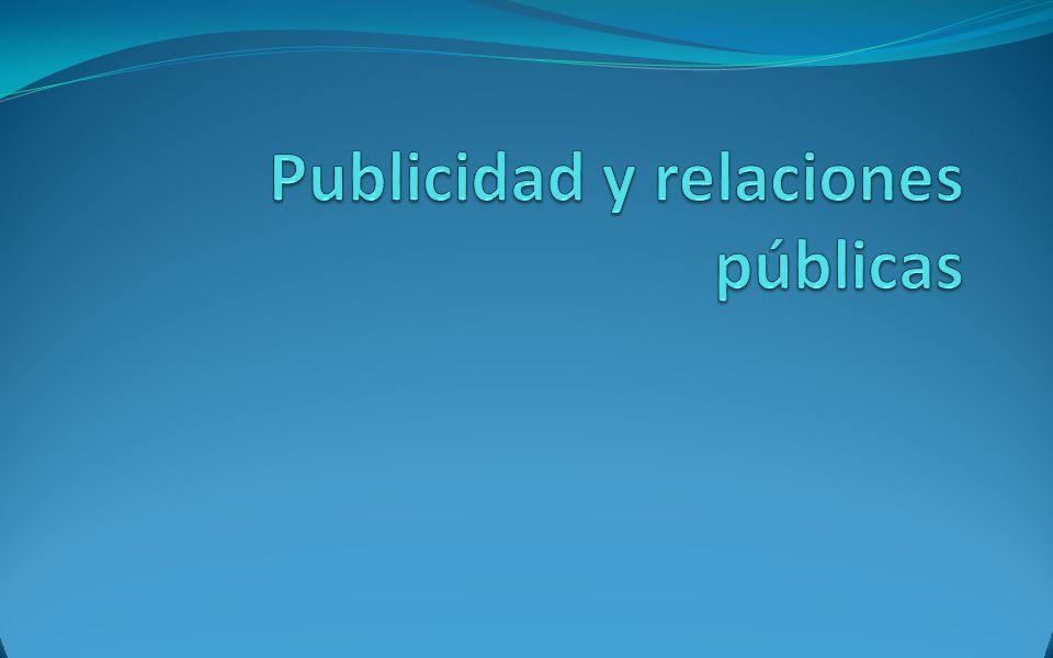 Publicidad y relaciones públicas