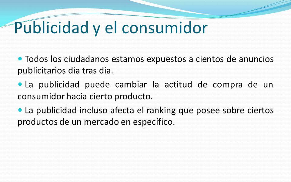 Publicidad y el consumidor