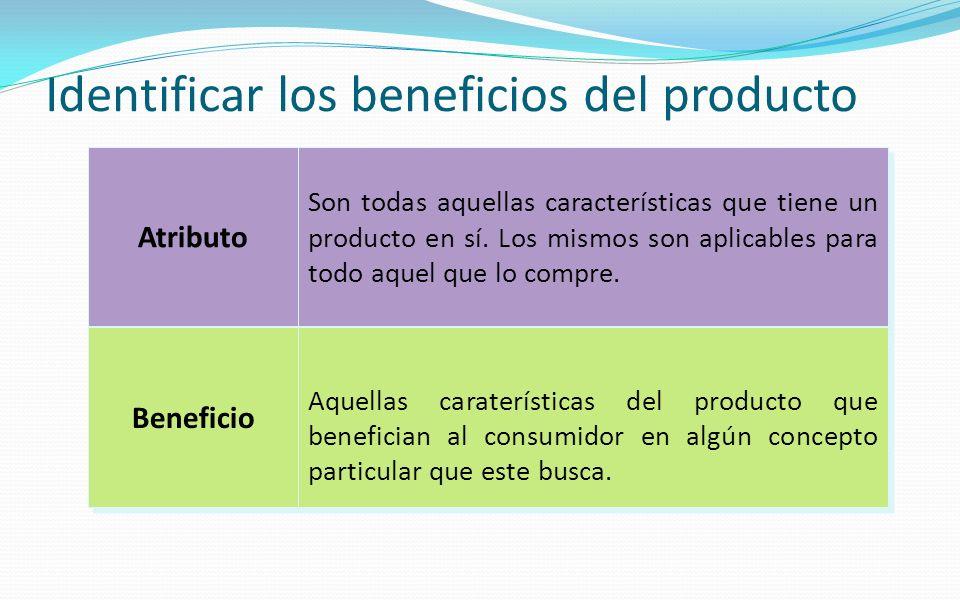 Identificar los beneficios del producto