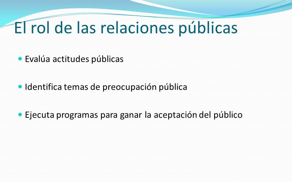 El rol de las relaciones públicas
