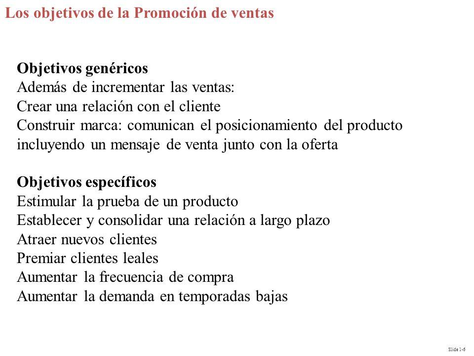 Los objetivos de la Promoción de ventas